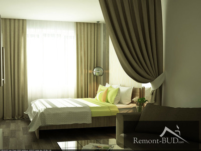 Спальня в оливкових тонах