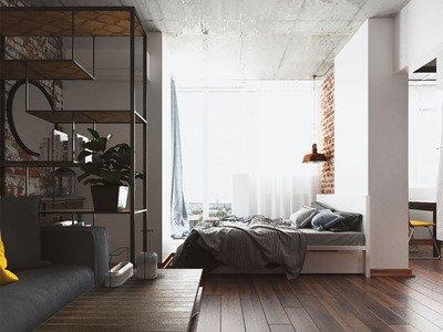 Спальня в стилі лофт