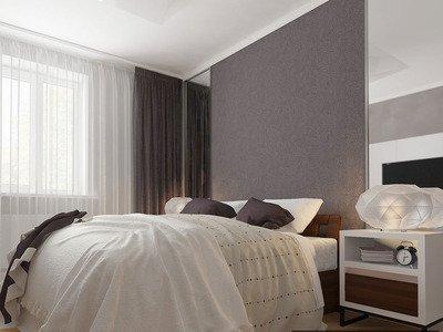 Спальня в теплих тонах
