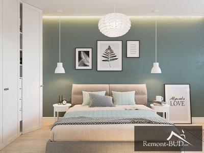 Спальня з бірюзовим акцентом