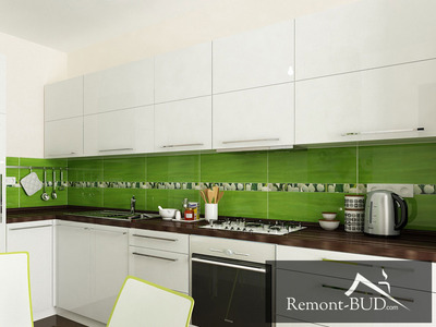 Кухня з елементами зеленого
