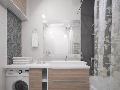 Ванна кімната в пастельних тонах