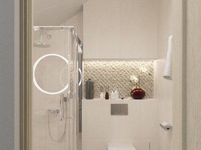 Ванная комната в пастельных тонах