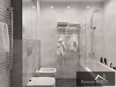 Ванна кімната в сірих тонах