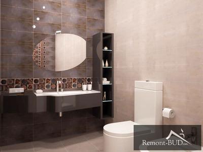 Ванна кімната в шоколадному кольорі