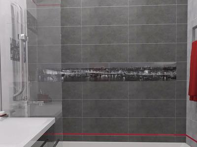 Ванная комната с ярким акцентом