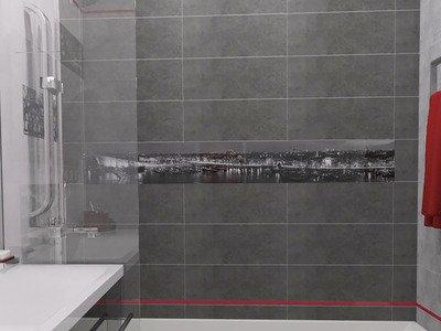 Ванна кімната з яскравим акцентом