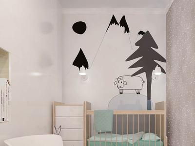 Детская комната с деревянными элементами