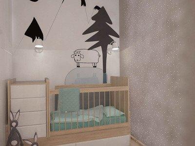 Дитяча кімната з дерев'яними елементами